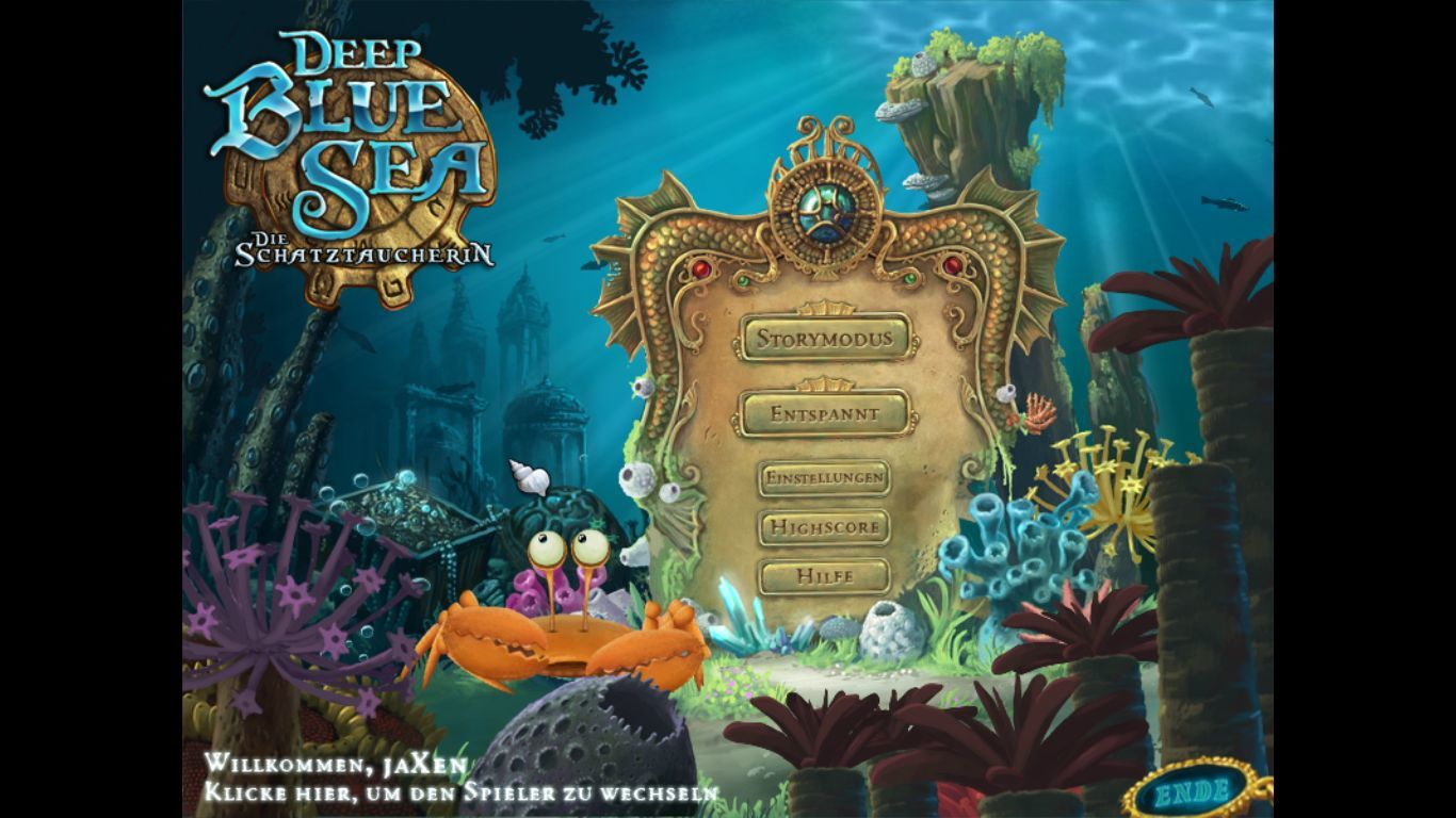 Deep Blue Sea II Windows Title Screen / Main Menu