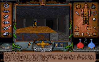 Ultima Underworld: The Stygian Abyss DOS Exploring a mystical orb