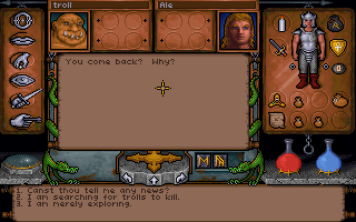 Ultima Underworld: The Stygian Abyss DOS Although you'll be surprised at the composition of those settlements. You can chat freely with groups of Ghouls, Trolls and Goblins