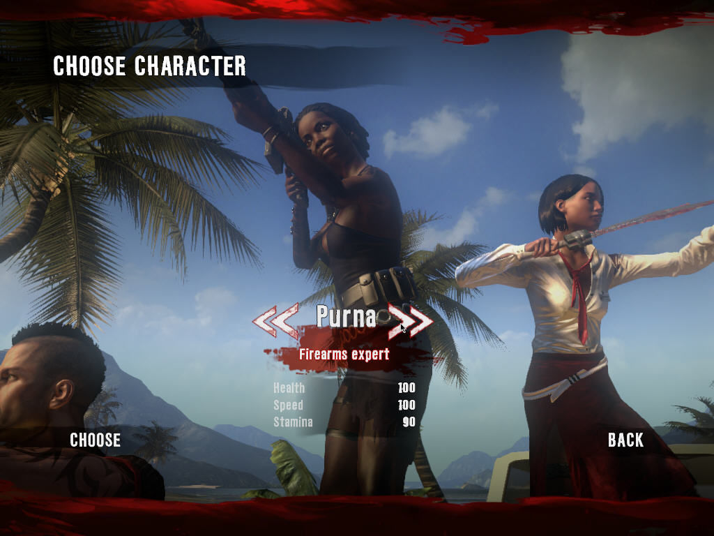 Dead Island Windows Choosing the character