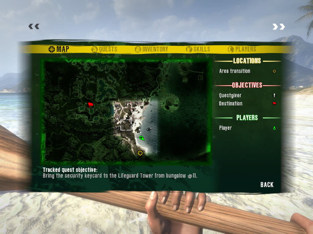 Dead Island Windows Viewing the map