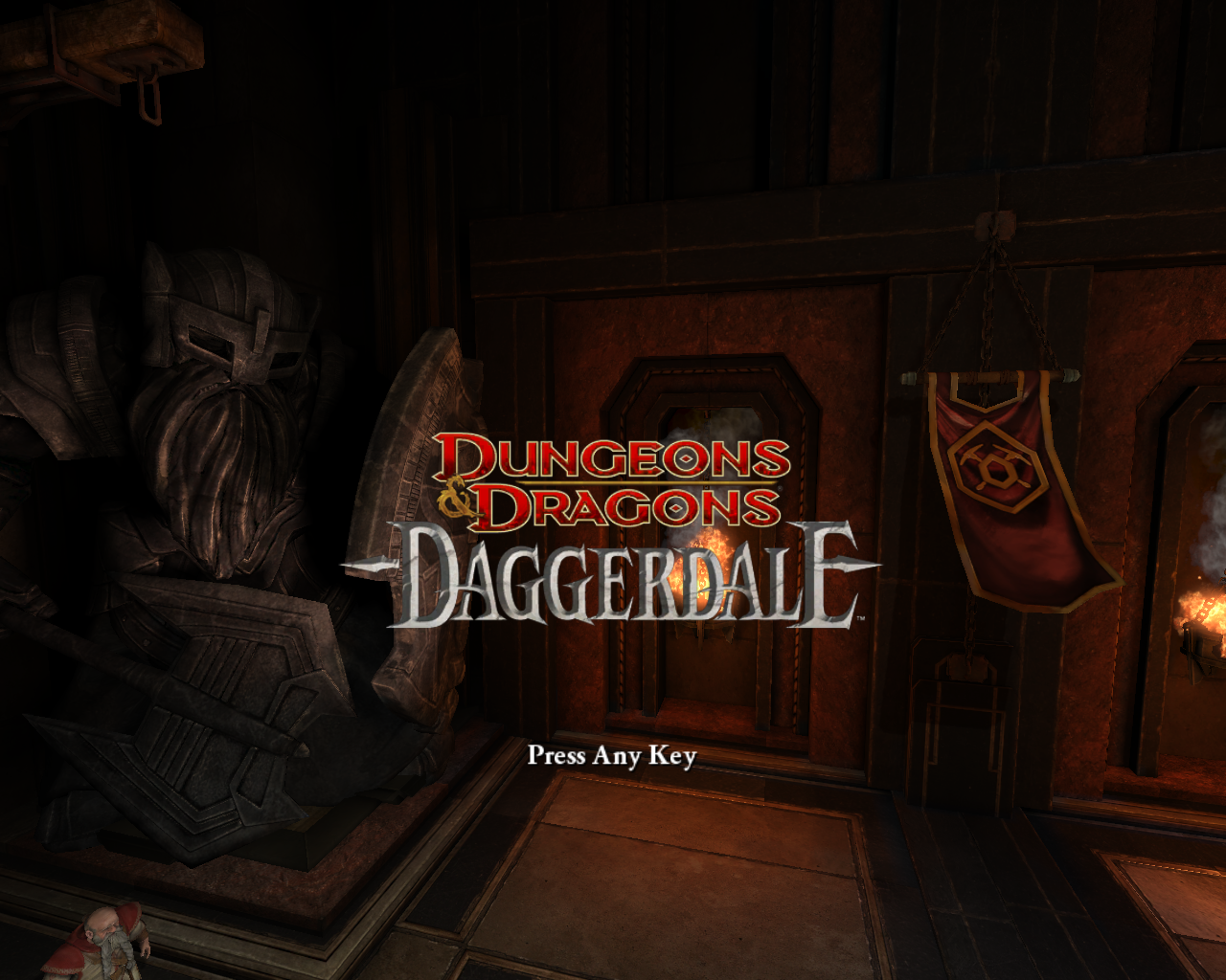 Dungeons & Dragons: Daggerdale  Windows Title Screen