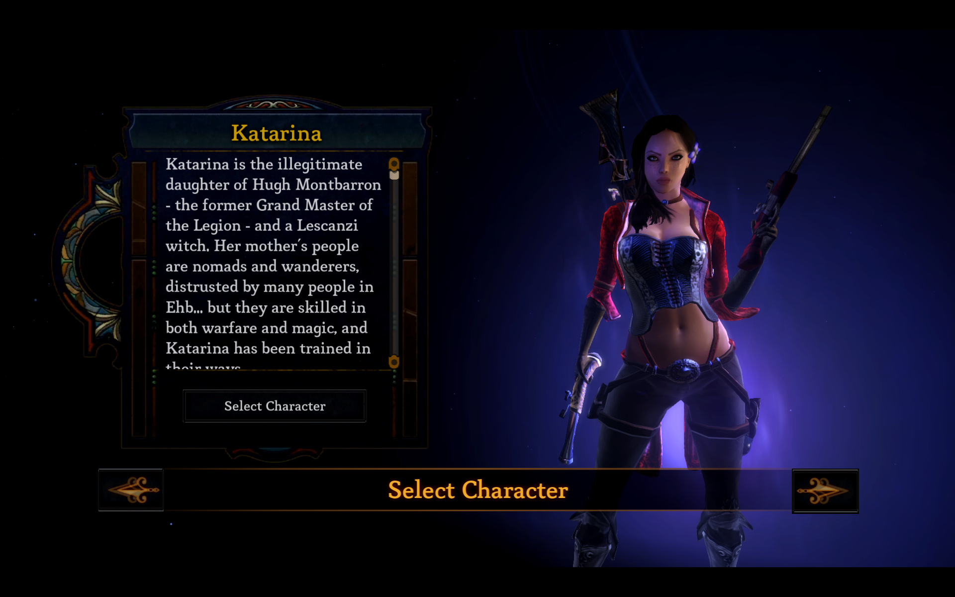 Dungeon Siege III Windows Select Character