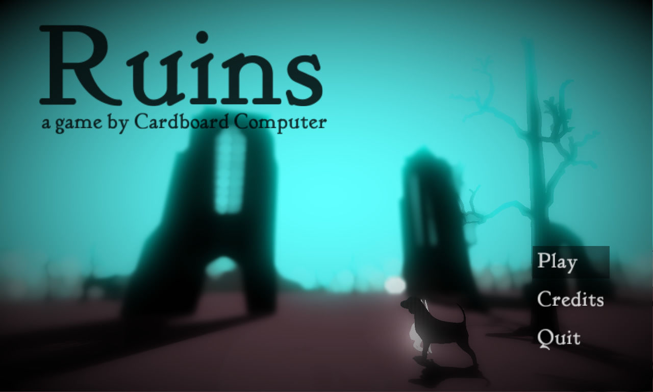 Ruins Windows Main menu