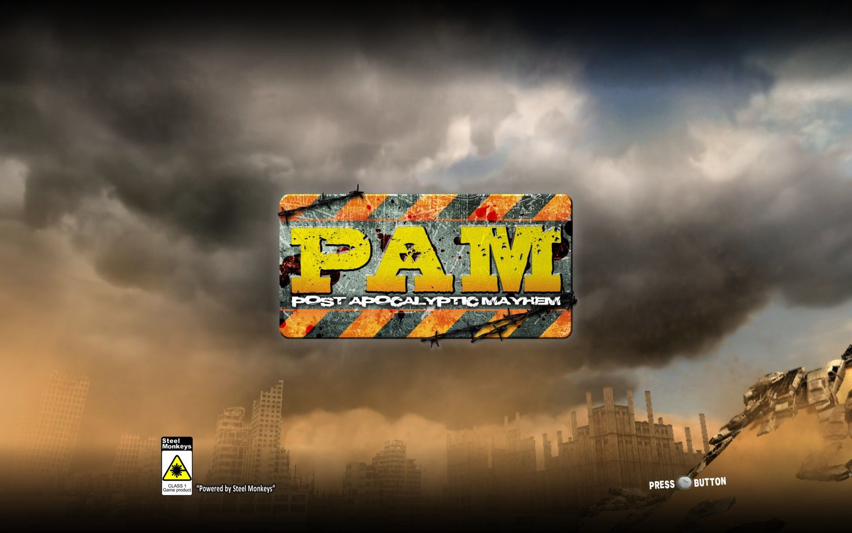 PAM: Post Apocalyptic Mayhem Windows Title screen