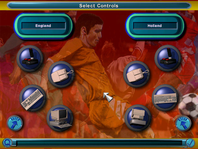 Kick Off 97 DOS Choose controls
