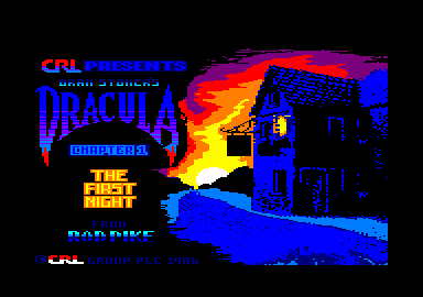 Dracula Amstrad CPC Title screen for chapter 1