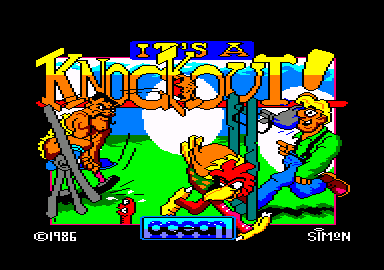 It's a Knockout Amstrad CPC Title screen