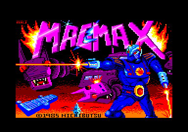 MagMax Amstrad CPC Title screen
