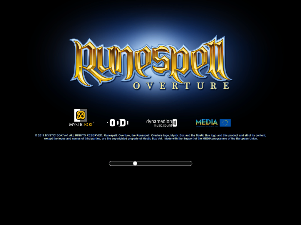 Runespell: Overture Windows Opening loading screen
