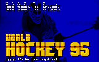 World Hockey 95 DOS Title screen
