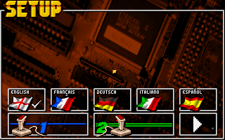 World Hockey 95 DOS Main menu