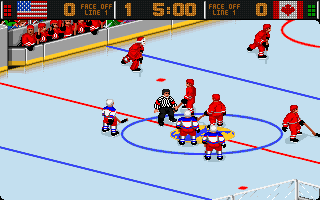 World Hockey 95 DOS Starting the game