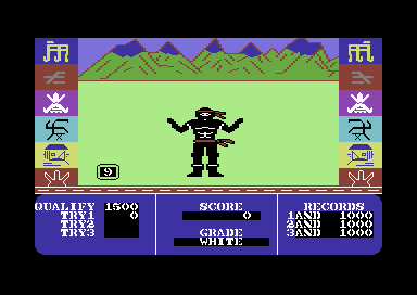 Ninja Master Commodore 64 Starting the first trial