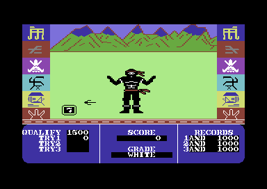 Ninja Master Commodore 64 A sai is coming towards me