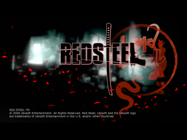 Red Steel Wii Title Screen
