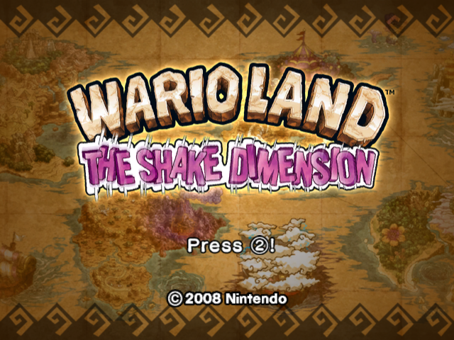 Wario Land: Shake It! Wii Title Screen