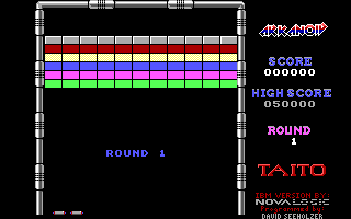Arkanoid DOS Round 1 (Demo mode)