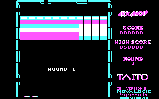 Arkanoid DOS Round 1 (Demo mode / CGA)