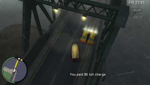 Grand Theft Auto: Chinatown Wars PSP Just like in GTA4 the annoying toll bridges make an appearance.