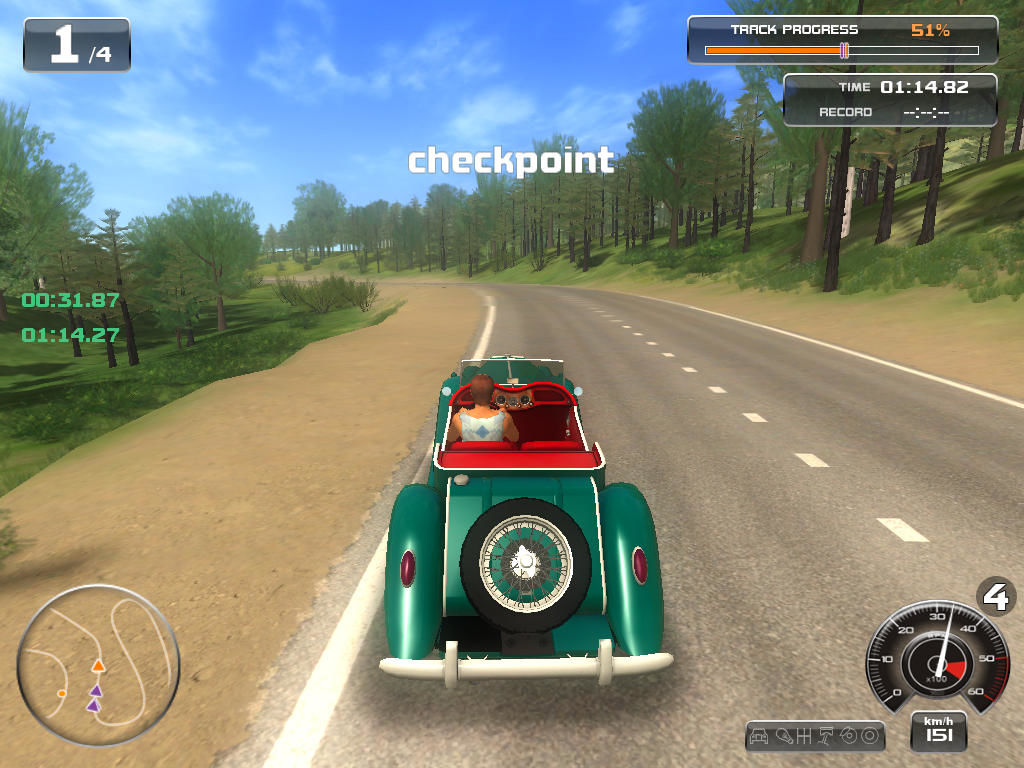 Classic Car Racing Windows Passed a checkpoint