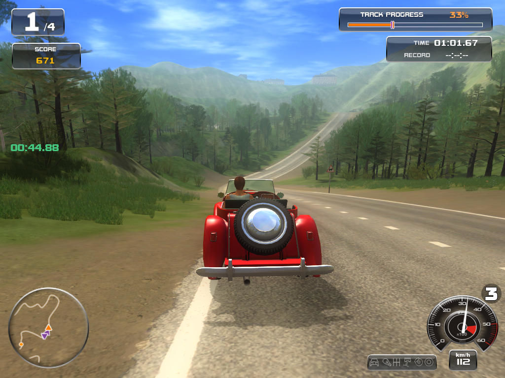 Classic Car Racing Windows Beautiful scenery