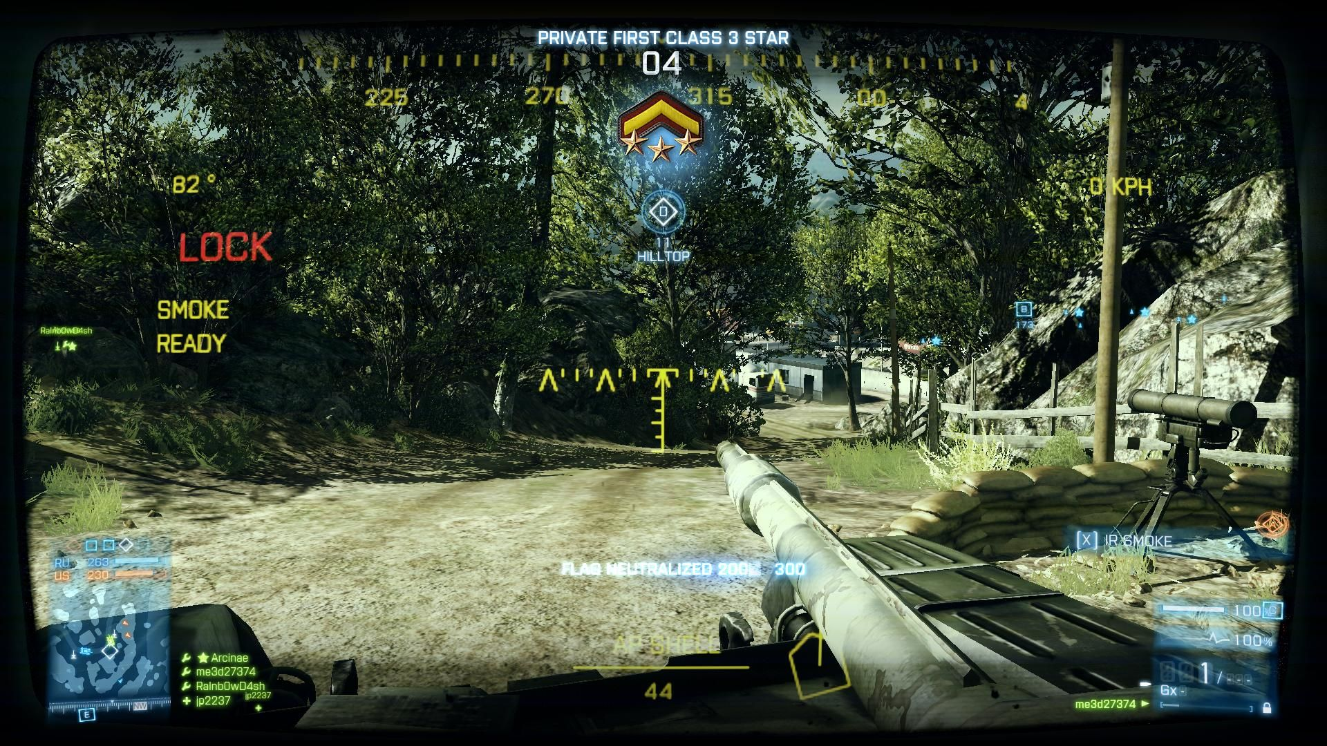 Battlefield 3 Windows Ranking up during mission in game