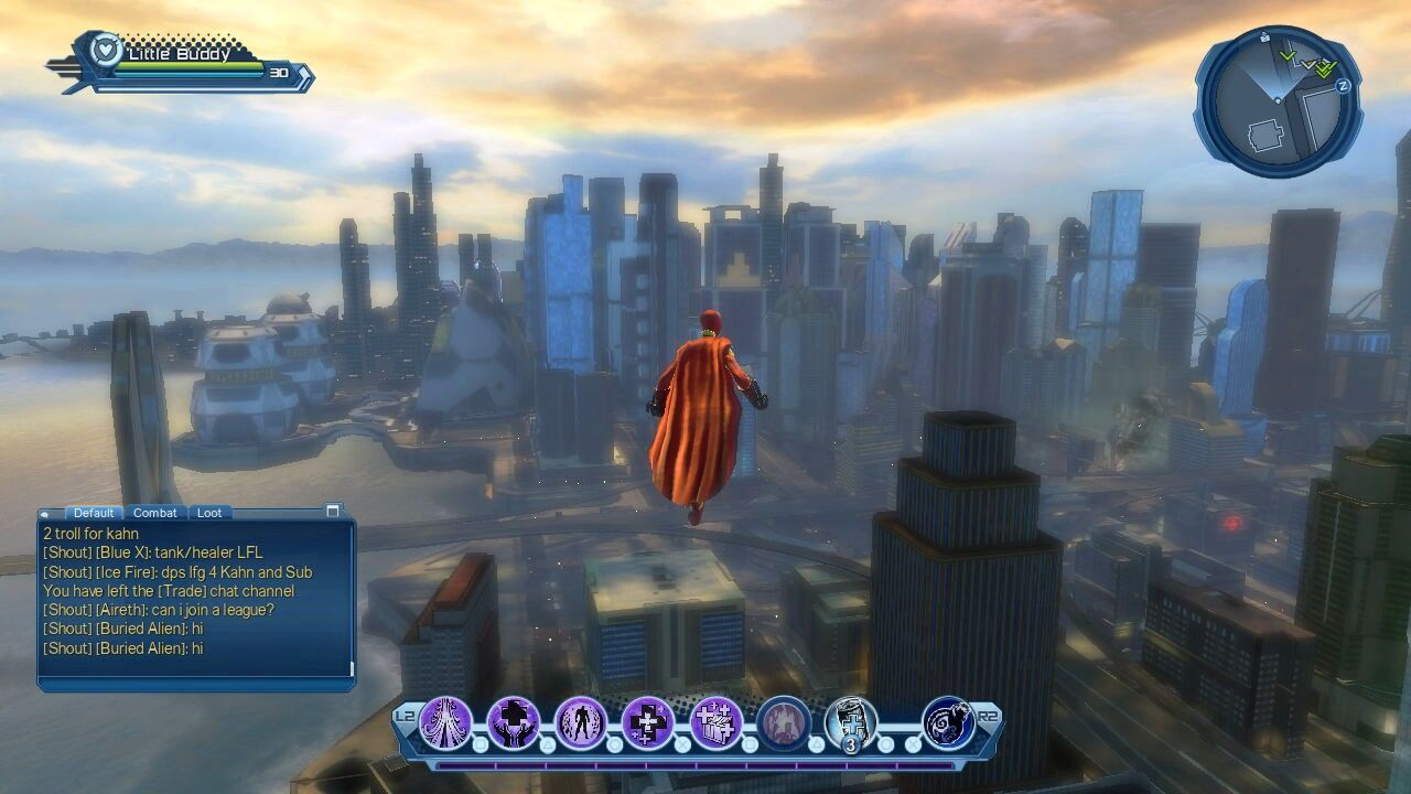 DC Universe Online PlayStation 3 Flight is a travel power, and Metropolis is one of the cities.  No surprises so far.