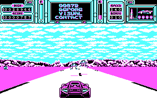 Fire & Forget II DOS The game begins (CGA).