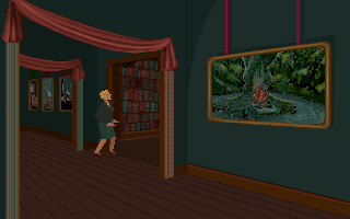 Alone in the Dark DOS Main hall. Nice art!