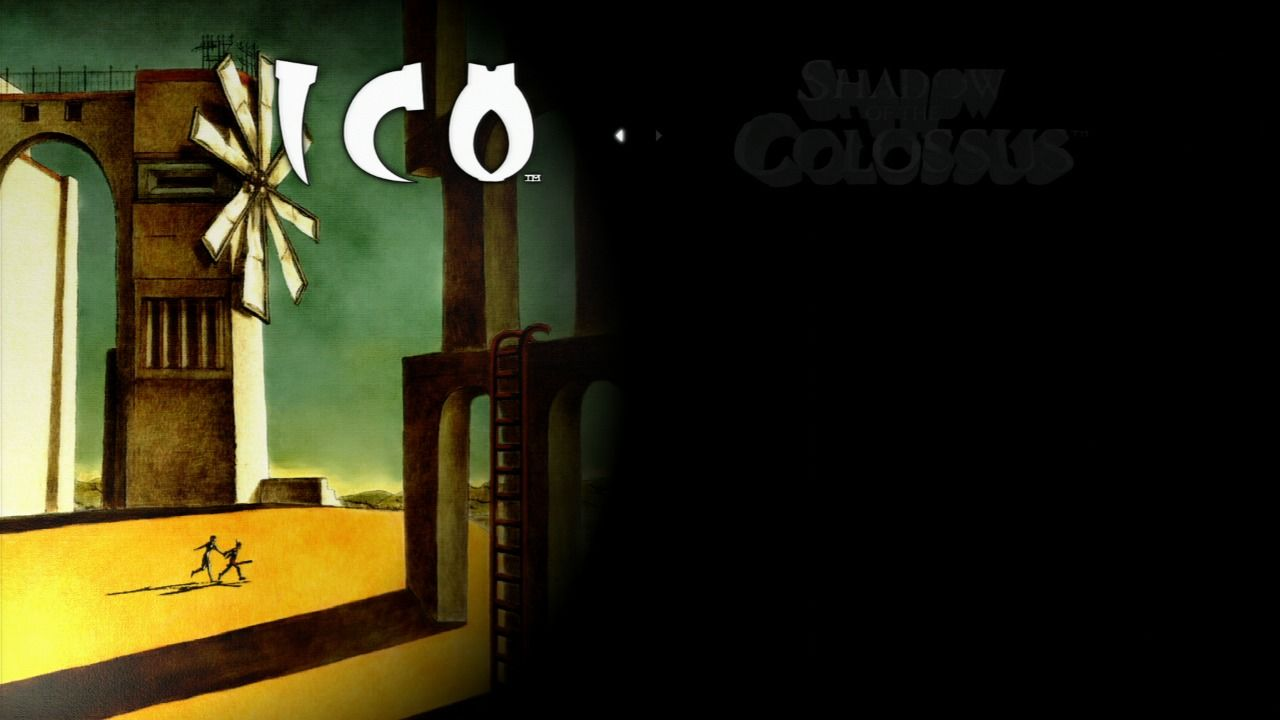 The ICO & Shadow of the Colossus Collection PlayStation 3 Game selection screen - Ico.