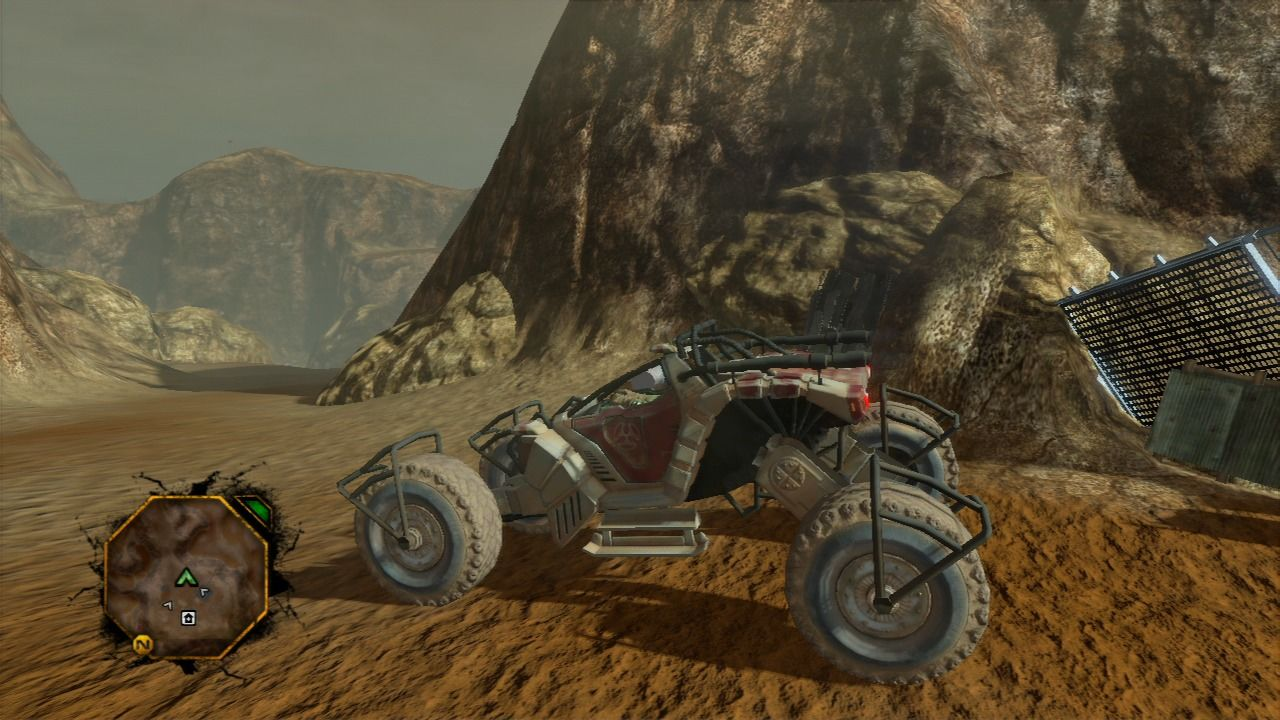 Red Faction: Guerrilla PlayStation 3 Certain vehicles like buggies are really fast and responsive, but come with very little shielding.