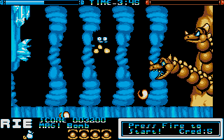 Chiki Chiki Boys Atari ST ...especially with a mid-boss like this.