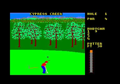 World Class Leader Board Amstrad CPC Time to putt.