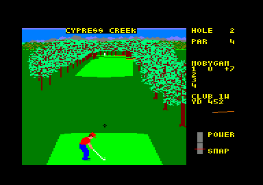 World Class Leader Board Amstrad CPC Starting Hole 2