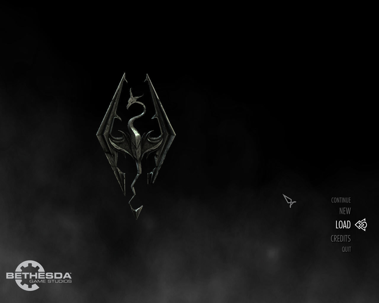 The Elder Scrolls V: Skyrim Windows The rather modestly designed main menu