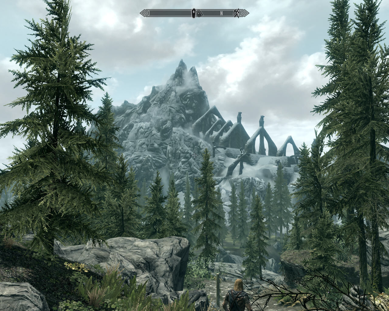 The Elder Scrolls V: Skyrim Windows Forest and mountains - let us begin our travel!