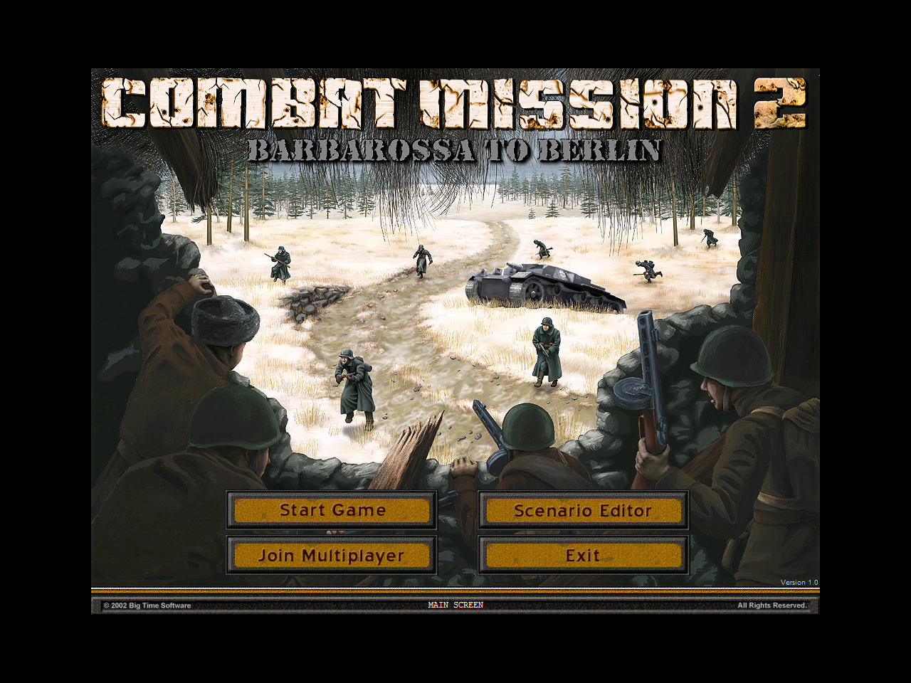 Combat Mission II: Barbarossa to Berlin Windows With this game there's no fancy introduction to this game. After a couple of developer / publisher logos it's straight into the main menu
