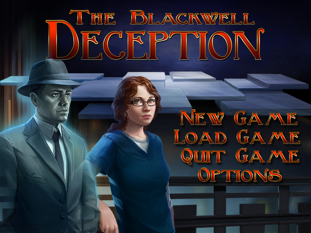 The Blackwell Deception Windows Main menu