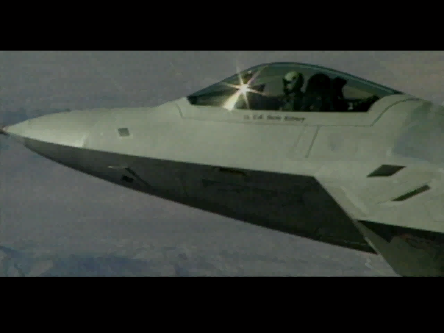F-22 Lightning 3 Windows The game starts with a short film of the F-22 in action