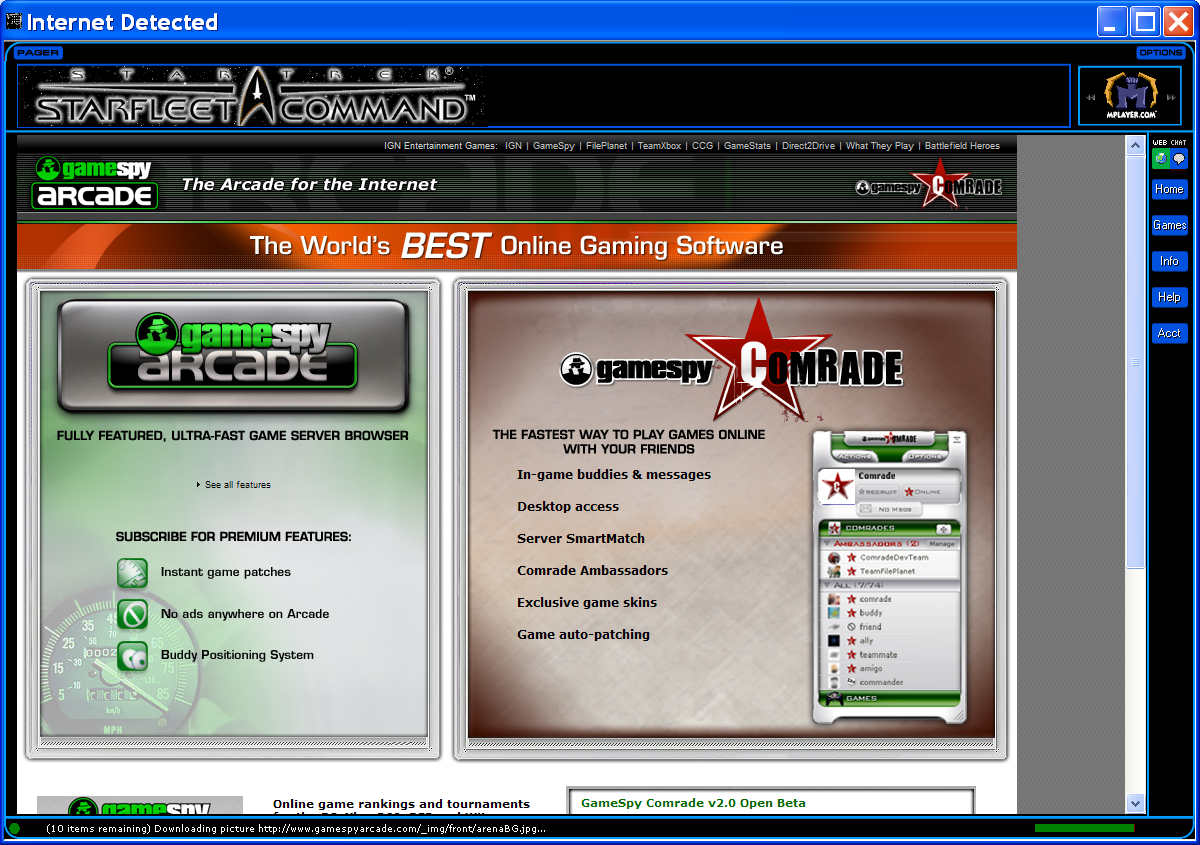 Star Trek: Starfleet Command Windows There's a separate launcher for the multiplayer option which uses Gamespy