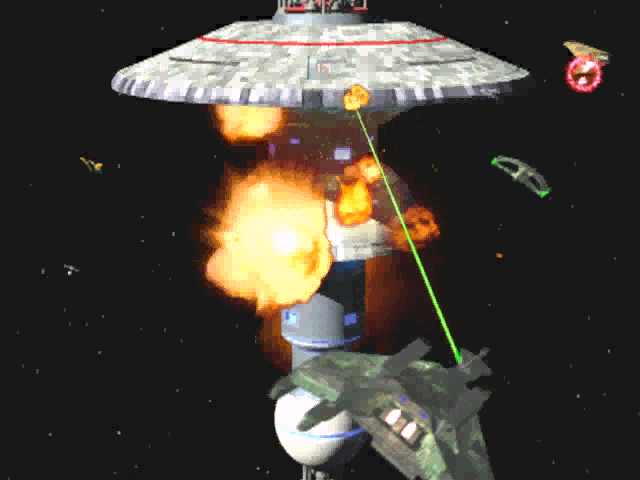 Star Trek: Starfleet Command Windows The game starts with an animated sequence showing ships of all races shooting at each other and generally blowing stuff up