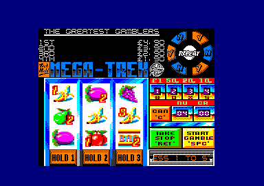 Fruit Machine Simulator 2 Amstrad CPC Game is loaded. (Title screen, sort of)