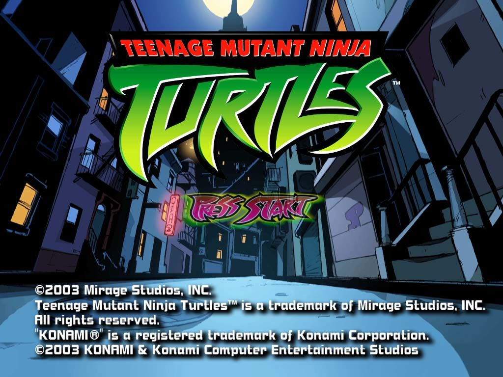 Teenage Mutant Ninja Turtles Windows Title Screen