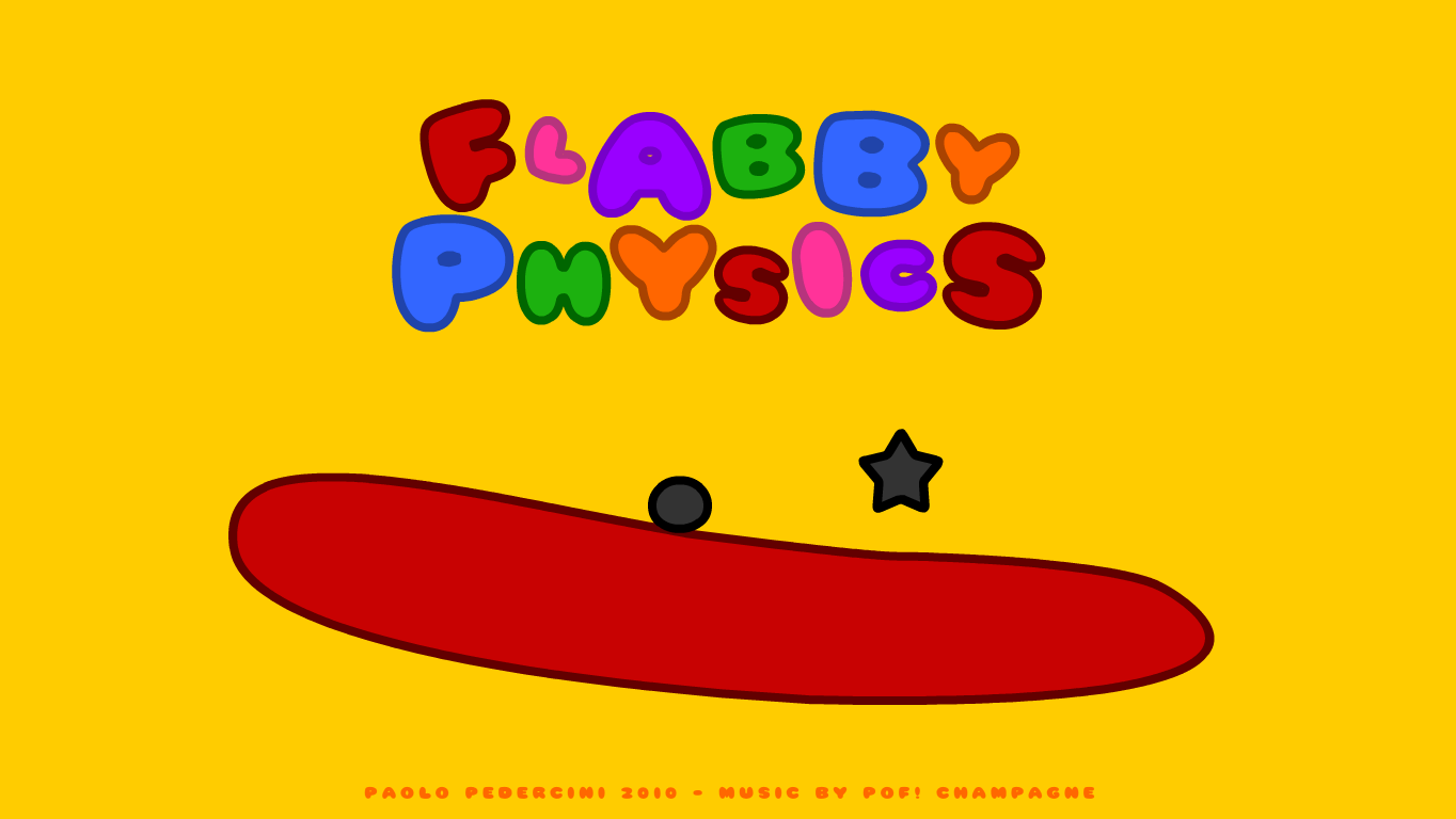 Flabby Physics Windows The title screen is also the first level.