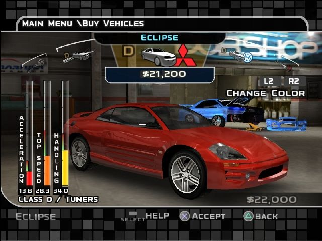 Midnight Club 3: DUB Edition Remix PlayStation 2 Tuner cars: Eclipse