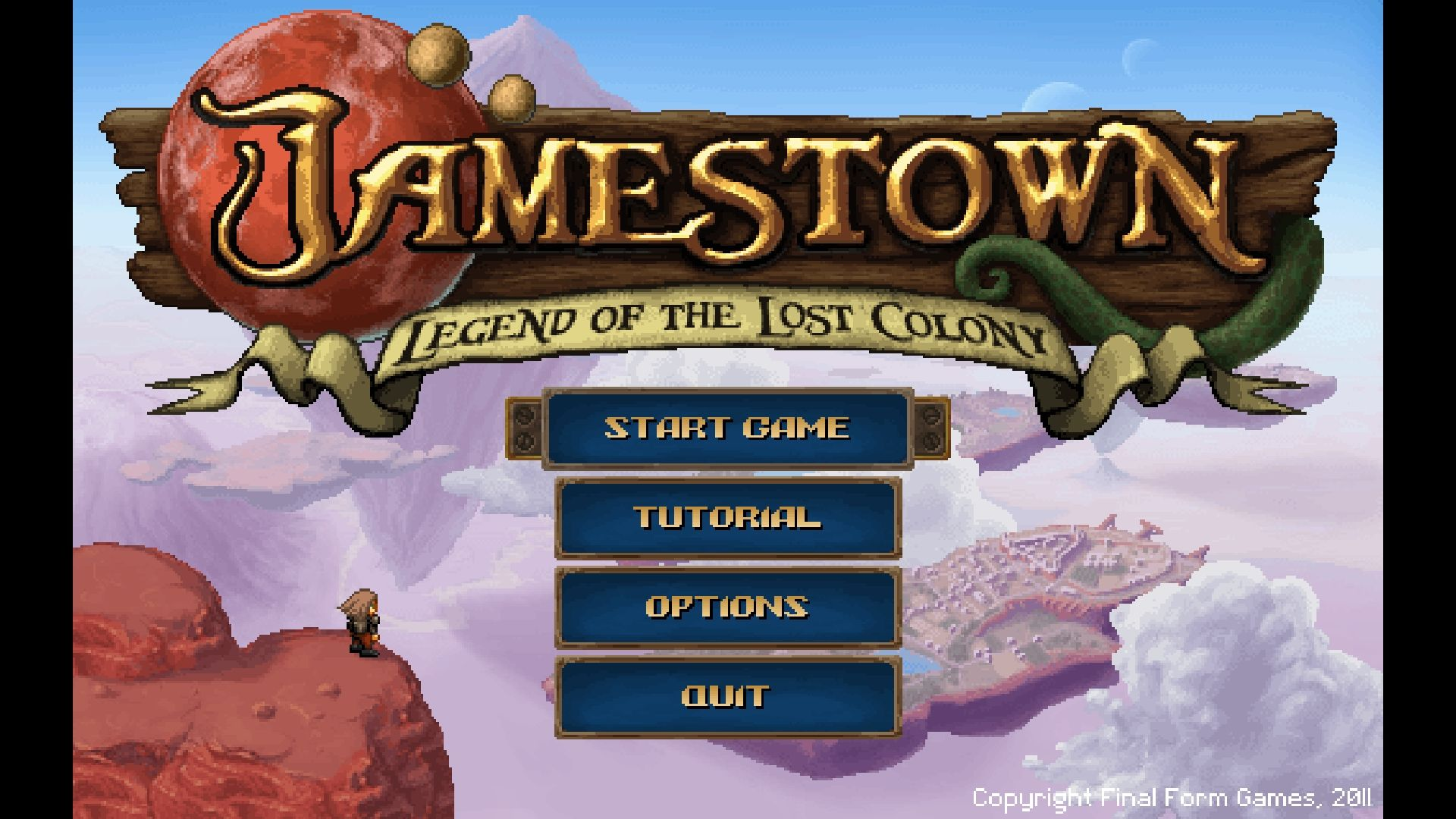 Jamestown: Legend of the Lost Colony Windows Main menu