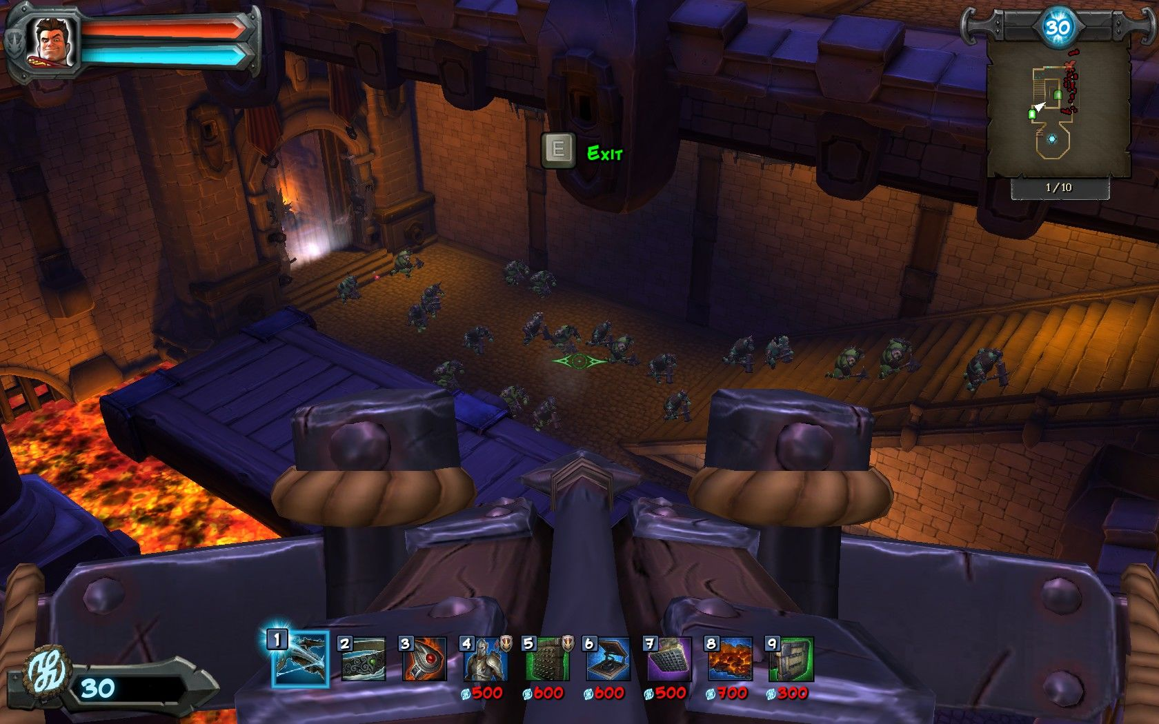 Orcs Must Die! Windows Some levels allow you to take control of a