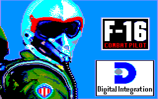 F-16 Combat Pilot Amstrad CPC Title screen