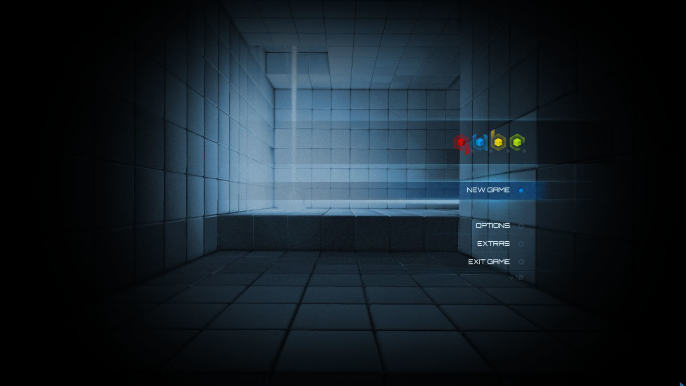 Q.U.B.E. Windows Main menu
